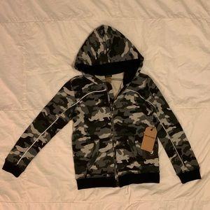 Boys True Religion reflective camo hoodie